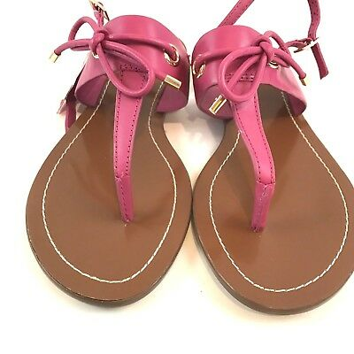 Kate Spade Pink Leather T Strap Bow Carolina Sandals Women's Size 6 Shoes NEW
