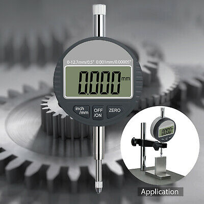 Digital Electronic Lcd Dial Indicator 0-0.5 Probe Test Gauge Range 0 - 12.7mm