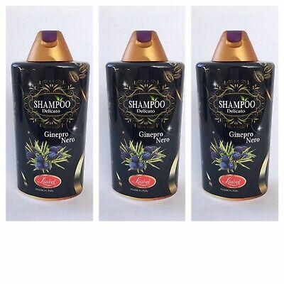3 x 500 ml Shampoo Haarshampoo mit schwarzem Wacholder 0% Parabene Silikone (Schwarze Haare, Shampoo)