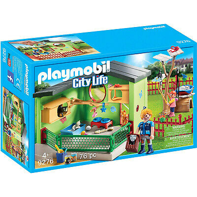 Playmobil City Life Purrfect Star Cat Boarding Building Set 70039 NEW Learning