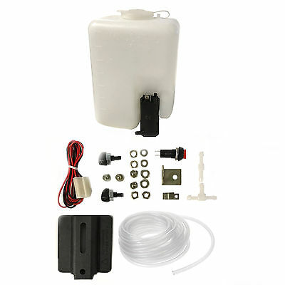 Universal Classic Car Boat Windshield Windscreen Washer Pump Bottle Tank Kit uk