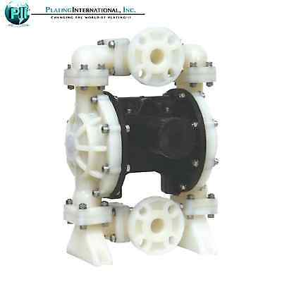 Nib Double Diaphragm Air Pump Chemical Industrial Polypropylene 1 Inch