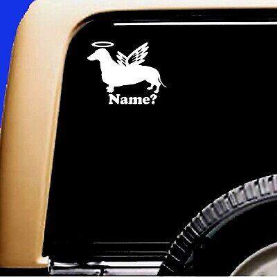 Dog Memorial Dachshund Halo Angel Decal Sticker RV Truck Original Design - CA$6.00