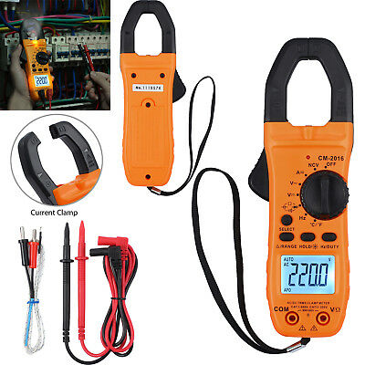 New 6000 Counts Digital Clamp Meter Tester Acdc Auto Range Multimeter True Trms