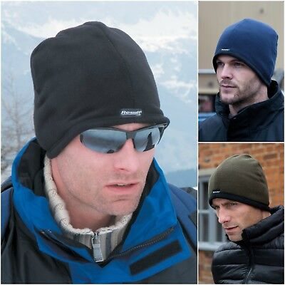 Stretch Fleece Beanie Hat Skater Ski Sports Cycling Winter Warm Beanie Skull Cap Fleece Skull Cap Hat