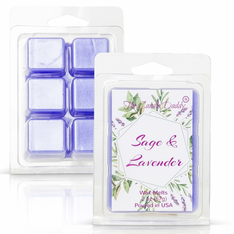 Sage and Lavender - Relaxing Sage and Lavender Scented Melt- Maximum Scent Wax C