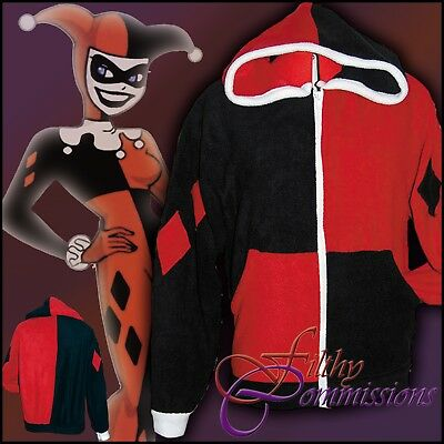 Batman - Harley Quin Hoodie jacket cosplay costume coat DC marvel comic XS - 3XL