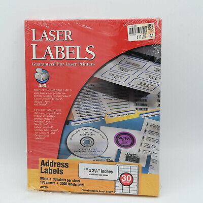 3000 Avery White Address Labels 1 X 2-58 5160 Brand