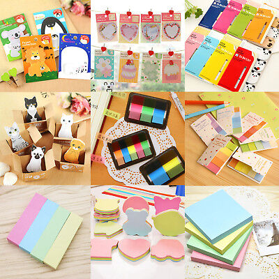 Cute Sticky Notes Office Bookmark Marker Memo Index Flags Post Sticker Random