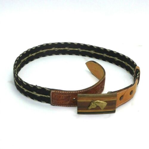 Horsehair Belt with Decorative Buckle