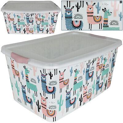 25 L Aufbewahrungsbox Deckel Kinder Spielzeug Spielkiste Kiste Box Aufbewahrung