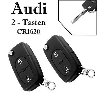 2x Tastenfeld für Audi 8L A2 8Z TT 8N 2 Tasten Gummi Klapp Schlüssel