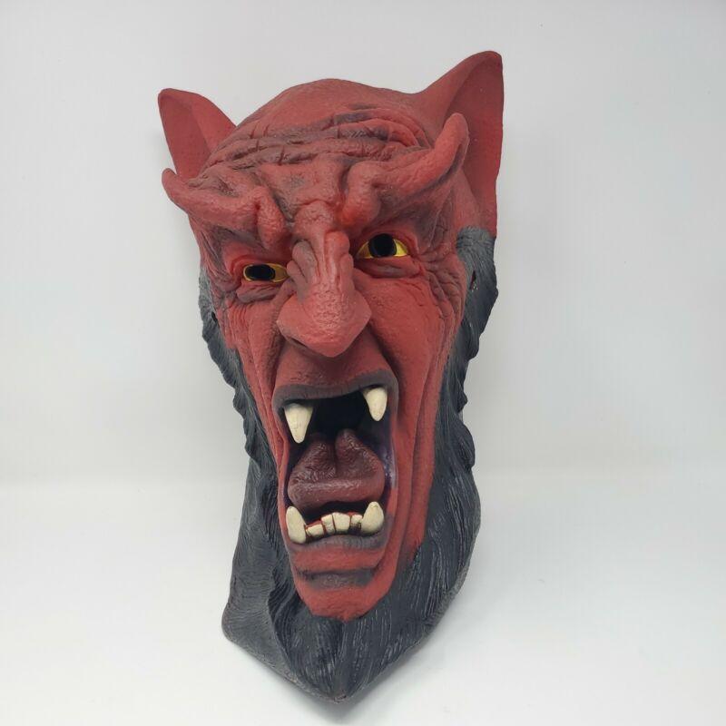 Vintage Rubber Satan Devil Demon Halloween Mask 90s Rare Paper Magic Group 1997