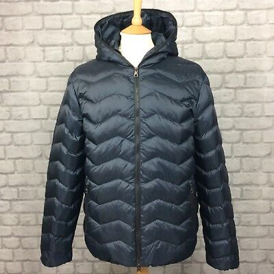 EA7 EMPORIO ARMANI MENS UK L BLACK MOUNTAIN DOWN HOODED COAT JACKET RRP £295 for sale  Shipping to United States