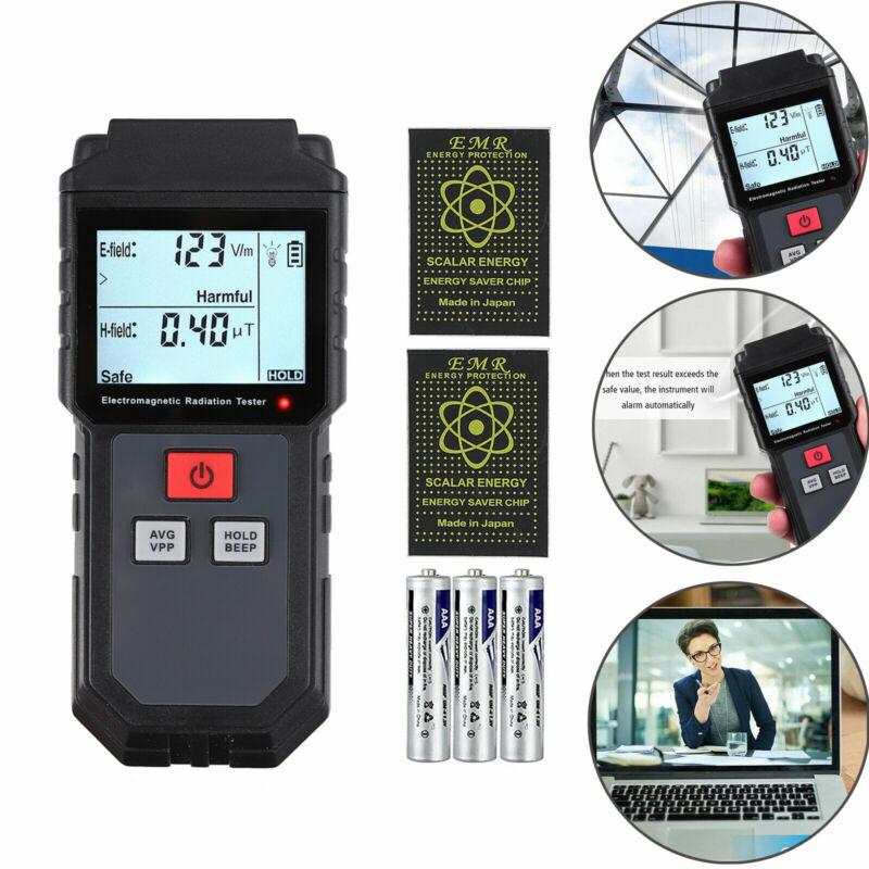 LCD Electromagnetic Radiation Detector EMF Meter Tester W/Anti Radiation Shield