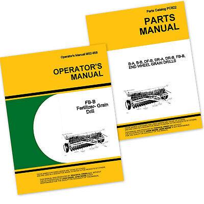 Operator Parts Manual For John Deere Fb137b Fertilizer Grain Drill Owner Catalog