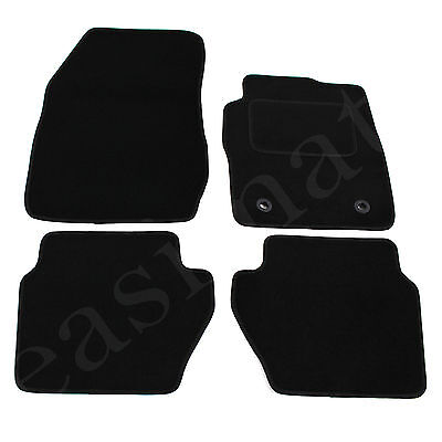 Ford Fiesta Mk7 2009-2011 Tailored Carpet Car Mats Black 4pc Floor Set Oval Clip