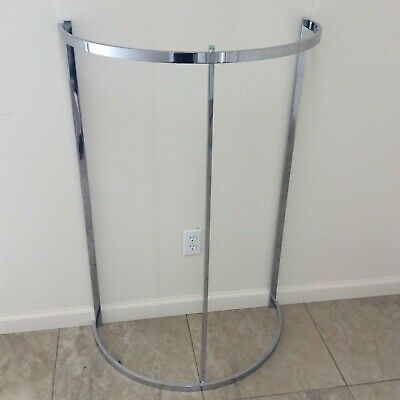 Commercial Grade Chrome Half Round Clothing Rack - Used