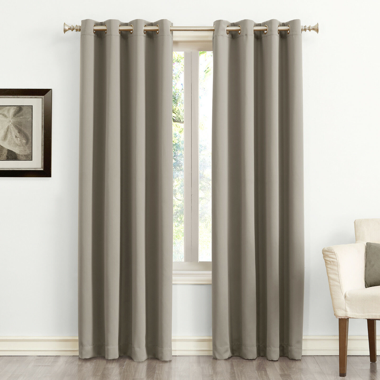 Sun Zero Nolan Energy Saving Blackout Grommet Curtain Panel