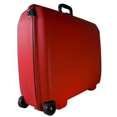 "Samsonite RED Rolling Oyster Suit Case Luggage 29"" Hard Plastic Locking USA (3)"