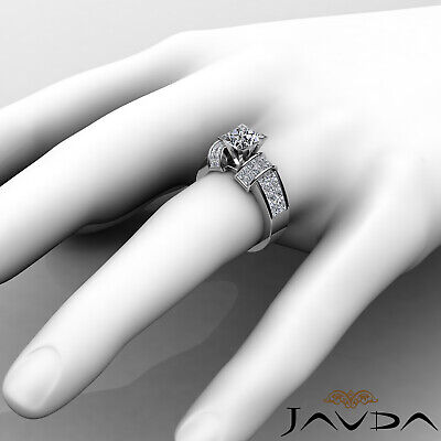 4 Prong Invisible Setting Princess Cut Diamond Engagement Ring GIA I VS2 2.96Ct 2