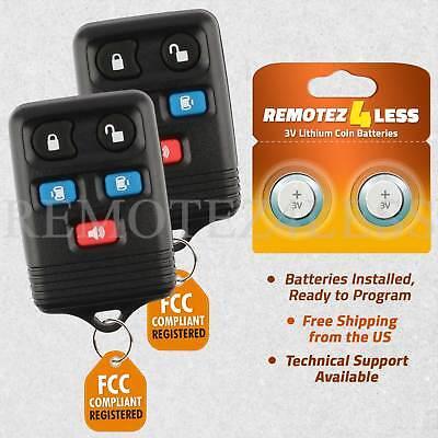 - for 1999 2000 2001 2002 2003 Ford Windstar Keyless Remote Car Entry Key Fob Pair