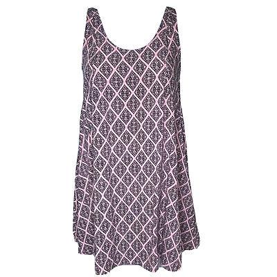 H &M Women's Size 6 Pink Black Sleeveless Short Tunic Dress