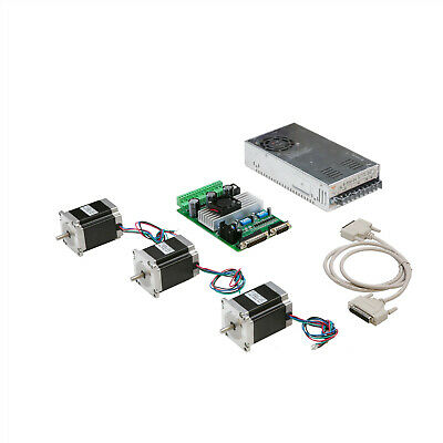 Us Free Ship 3 Axis Nema 23 Stepper Motor 290oz-in 1a 23hs8610 Driver Cnc Kit