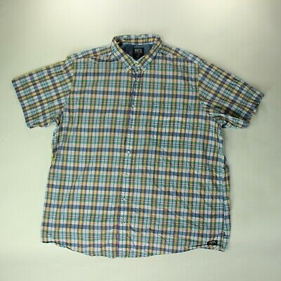 Nautica jeans company shirt mens size 4XLT XXXXL Tall short sleeve multicolored