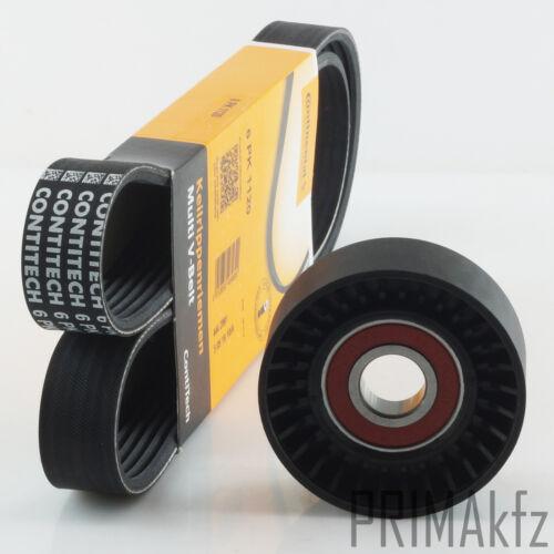 CONTI Keilrippenriemen 6PK1120 + Spannrolle VW Lupo Polo Caddy II 1.0 - 1.4