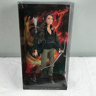 **NEW** The Hunger Games Katniss Barbie Collector Black Label Doll *FAST SHIP*