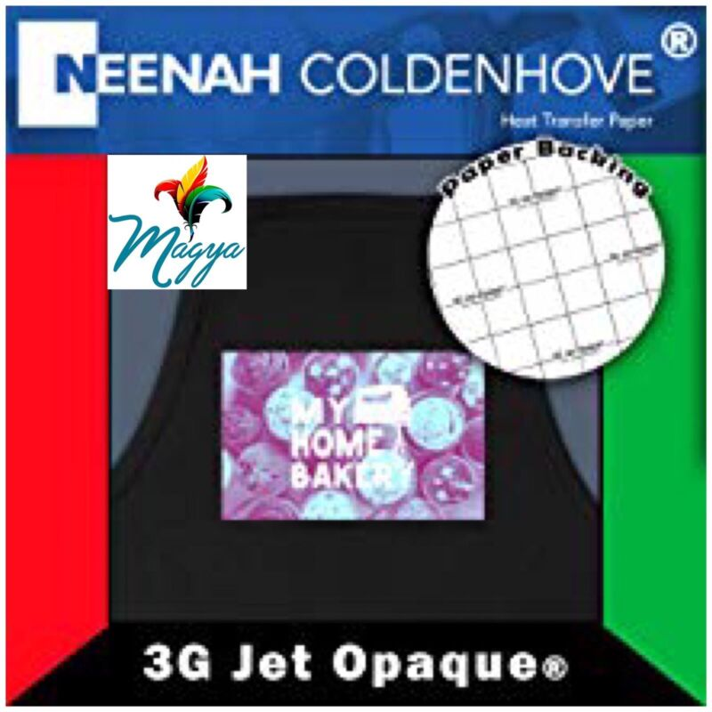 Neenah 3G Jet Opaque Heat Transfer Paper for Dark Colors 8.5x11 (50 sheets)