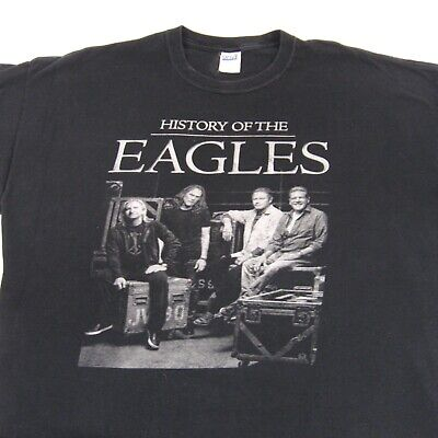 History Of The Eagles T-Shirt 2013 Tour Concert Cities Black Adult  Tag Size 2X