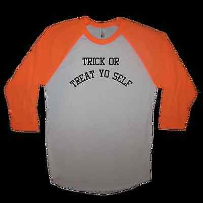 raglan trick or treat yo self shirt funny halloween costume idea for adults cute
