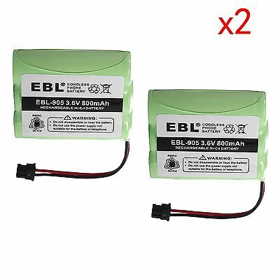 2pack 800mAh Cordless Home Phone Battery For Uniden BT-800 BP-800 BT-905