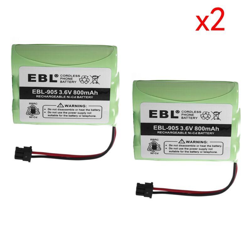 2pack 800mAh Cordless Home Phone Battery For Uniden BT-800 BP-800 BT-905