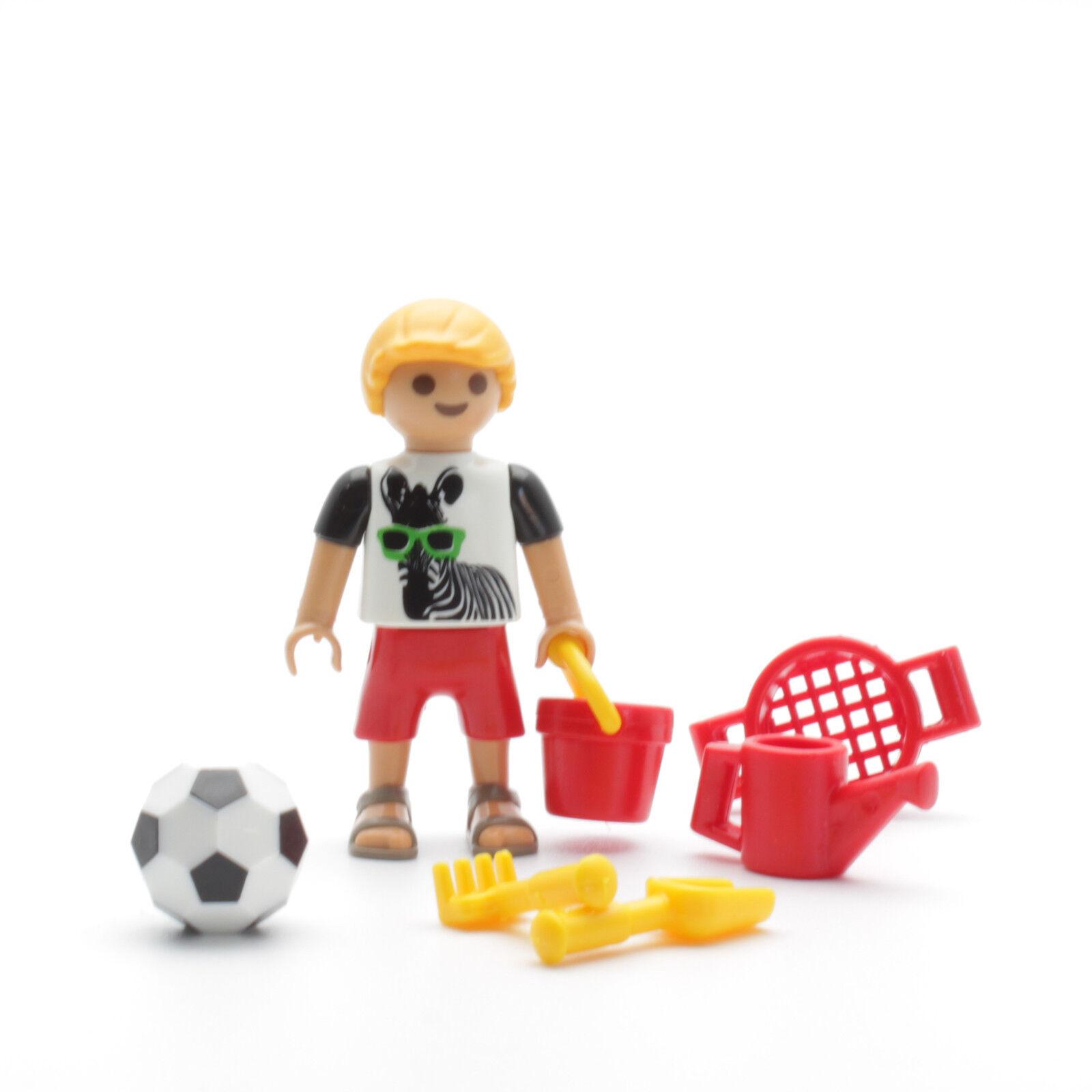 Playmobil 9272 Junge mit Spielsachen Spielplatz Kindergarten Schule Garten Ball