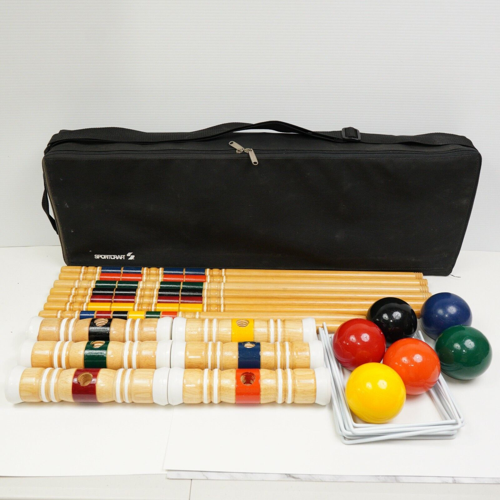 Sportcraft Croquet Complete Set 6 Players With Carrying Case