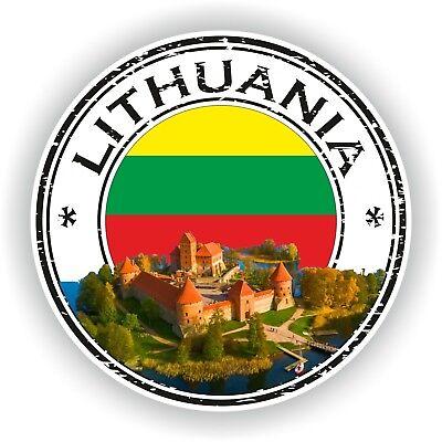 Litauen Stempel Siegel Aufkleber für Auto Lkw Laptop Tablet Kühlschranktür ()