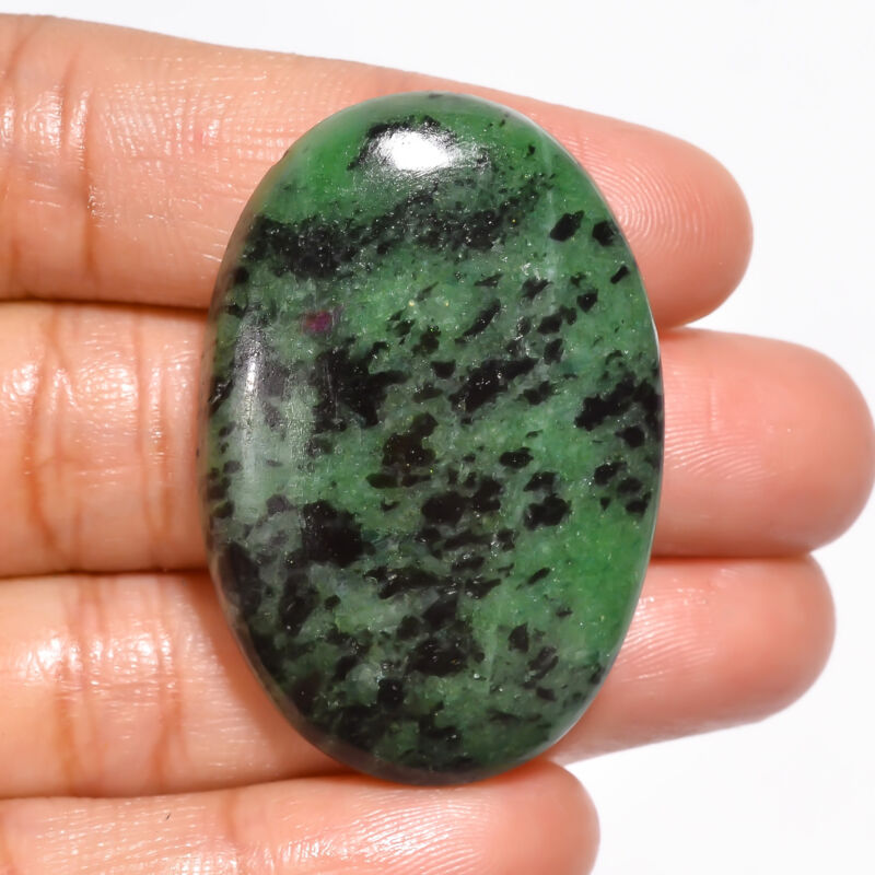 AAA+ Natural Ruby Zoisite Oval Cabochon Loose Gemstone 82.5 Ct 41X28X7mm EE20362