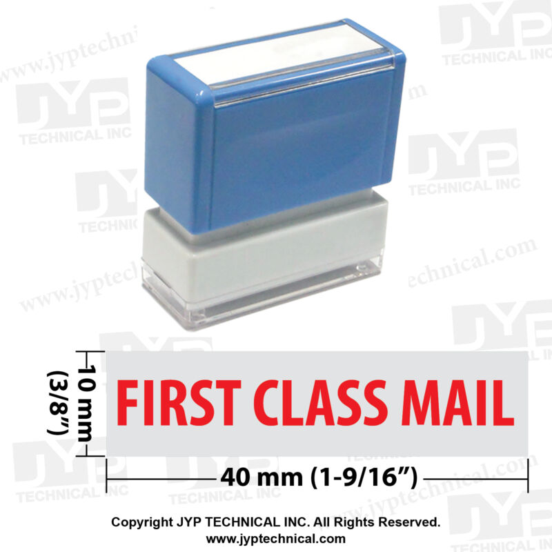 First Class Mail - JYP PA1040 Pre-Inked Rubber Stamp- Red Ink