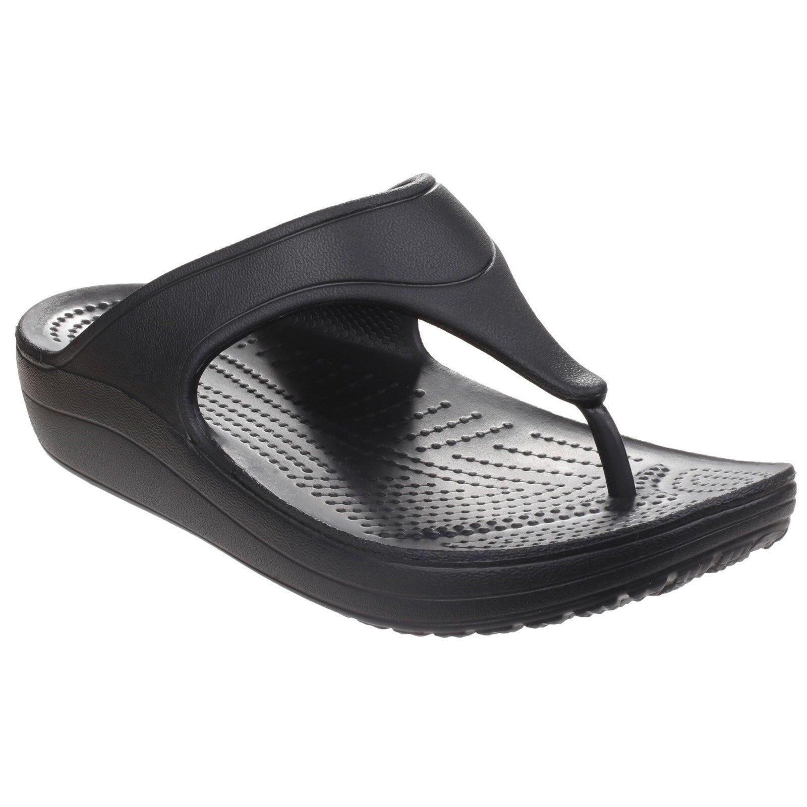 557043175ed Crocs Sloane Platform Sandals Womens Croslite Foam Heeled Toe Post Flip  Flops