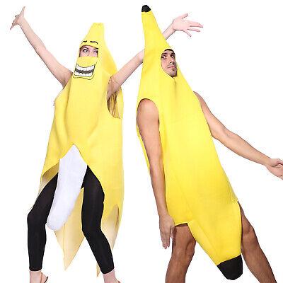 Halloween Herren Bananenkostüm Bananenman Frucht Cosplay Spaß - Herren Bananen Kostüm