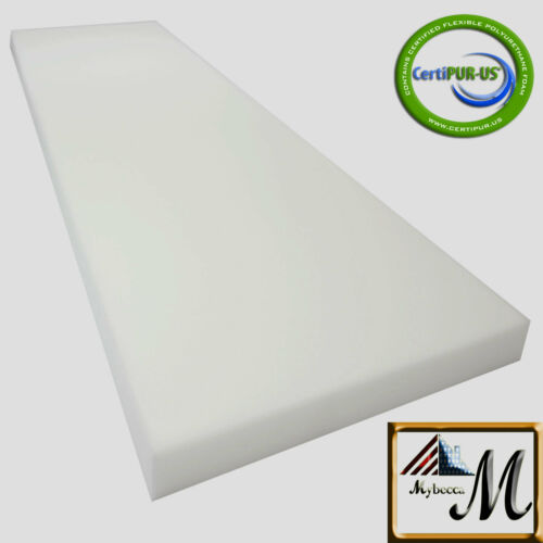 "Medium Density Mybecca Upholstery Foam Cushion Seat Replacement Pad 24"" X 72"