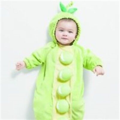 Hyde & Eek Peapod Baby Costume Halloween Bunting Green Pea Pod Size 0/6 Months - Baby Pea Costume