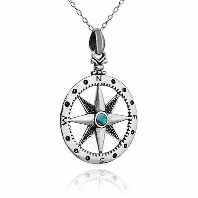 North Star Compass Necklace - 925 Sterling Silver - Pendant Graduation Gift NEW](Graduation Necklaces)