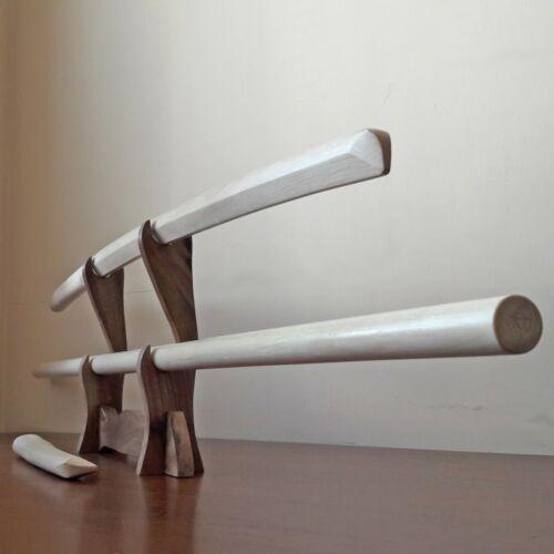 Set of wooden weapons for aikido - Carpinus betulus (European Hornbeam)