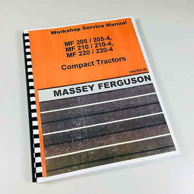 Massey Ferguson Mf 220 220-4 Compact Tractor Service Repair Shop Manual Workshop
