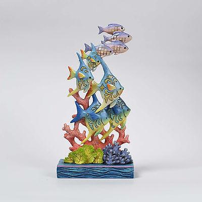 Jim Shore Heartwood Creek Ocean Wonderland Fish By Coral 4057695 NEW