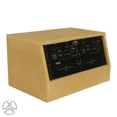 4u 19 inch Angled Desktop Rack Pod - Recording Radio Studio Furniture (SMP4A)